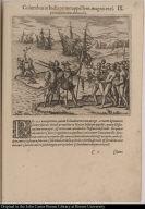 Columbus in India primo appellens, magnis excipitur muneribus ab Incolis. IX.