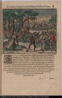 Columbus supplicium ab Hispanis seditiosis sumit.