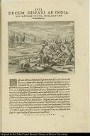 Decem Hispani ab Indianis opprimuntur, spoliantur & trucidantur.