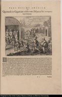 Quomodo in Gigantum insula cum Hispanis suis exceptus suerit Vesputius.