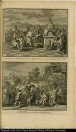 [top] Le Mercure des Mexicains adoré à Cholula sous le nom de Quetzalcouatl. [bottom] Divinité qui préside à la chasse.