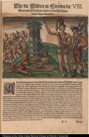 Wie die Wilden in Florida die Seul vom Obersten in seiner ersten Schiffahrt aussgerichtet verehrt haben.