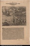 Ein behertzter Schiffknecht dess Pizarri auss Creta bürtig drengt mitten durch die Meng der Indianer hindurch.