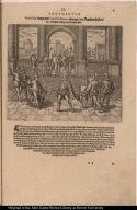 Atabaliba kompt mit Francisco Pizarro ubereyn der Rantzion halben die er für sein erledigung bezahlen solte.