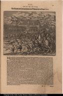Die Spanier und Indianer halten eine Schlacht für der Stadt Cuzco.