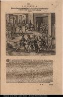 Didacus Almagrus wird von dem Ferdinando Pizarro in gefängnuss geworffen darinnen strangulirt und endtlich offentlich enthauptet.