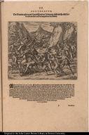 Die Spanier gehen gantz Tyraiñsch mit den Indianern umb welche nicht fort kommen mochten auff dem weg und mit den Bürden.