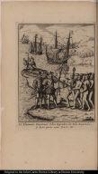 El Almirante Christoval Colon Descubre la Isla Española, ÿ haze poner una Cruz, etc.