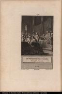 Le président du Congrès Partage la Couronne en 1774.