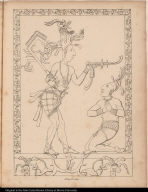 [Palenque relief. Subjugation of or showing of favor toward noble?]