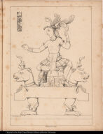 [Palenque relief. Maya figure on throne]