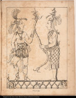 [Palenque relief. Two nobles?]