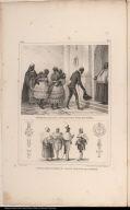 [top] Négresses allant a l'église, pour être baptisées. [bottom] Chevaliers du Christ, en grand costume de l'ordre.