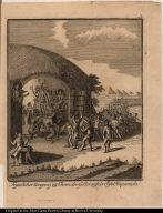 Fëyerlicher Umgang zu Ehren der Götter auf der Insel Hispaniola.