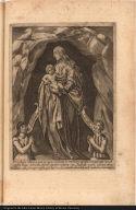 Vera efigies alterius, quae in rupis cavitate in modum capellae concameratae, non ab opifice aliquo delineata ...