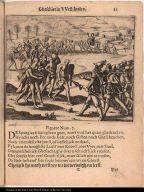 [Men bring treasure to European soldiers]
