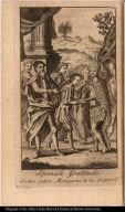 Spanish Gratitude. Cortes orders Motezuma [sic] to be Fetter'd.