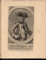 George Washington. Esqr. Americanischer Generalissimus.