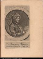 Dr: Beniamin Franklin. gebohrn zu Boston den 17. Janrü. 1706.