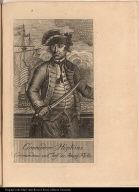 Commodore Hopkins. Commandeur en Chef der Ameri: Flotte.