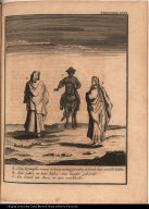 [Spanish women and man on horseback]