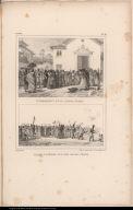 [top] Enterrement d'une femme nègre. [bottom] Convoi funèbre d'un fils de roi nègre.