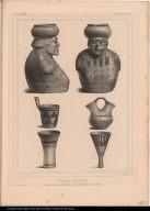 Vases anciens trouvés dans les Tombeaux des Indiens Aymaras de Bolivia.