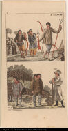[Fig. 133. People of Greenland Figs. 134 & 135. People of the northwestern part of America]