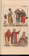 [Fig. 136. Woman of Surinam Fig. 137. People of Quito. Fig. 138. Man of Yemen. Fig. 139. Woman of Alexandria, Egypt, and Fig, 140. A Bedouin Arab man. ]