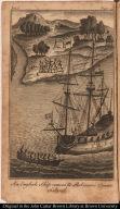 An English Ship comes to Robinson Crusoe Island.