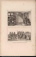 [top] Le Dessous de la Porte Cochère d'un Personnage de la Cour. [bottom] Le Bando, (Proclamation Municipale).
