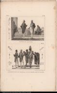 [top] Costume des Ministres. [bottom] L'Empereur Suivi d'un Chambellan et d'un Premier Valet de Chambre.
