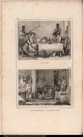 [top] Le Diner. [bottom] Les Dèlassemens d'une Aprés Diner.