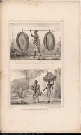 [top] Marchand de Sestes, Paniers qui se portent sur la tête. [bottom] Nègre Vendeurs de Volaille.