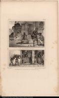 [top] Le Chirurgien Nègre. [bottom] Boutique d'un Marchand de Viande de Porc.