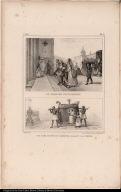 [top] Le Vieillard Convalescent. [bottom] Une Dame Portée en Caderinha, Allant a la Messe.