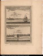 [top] De Schans St. Andries, te zien van het Krabben Eyland Oostzynde. [bottom] Redout Samson of Brandwagt