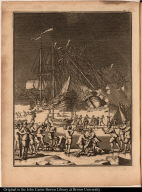 [Whaling ships crushed by ice on Greenland]