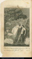 Pierre Viaus throwing lighted faggots at a Bear who was climbing a tree after his Negro.