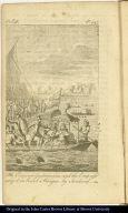 The Emperor Guatimozin, and the Empress seized on board a Piragua by Sandoval.
