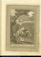 Sale el Bto. Aparizio a rondar de noche a Cavallo sus sementeras, y duerme apoiado sobra su lanza