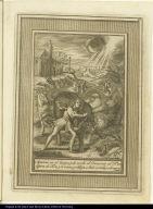 Apareze en el Campo, y de noche el Demonio al Bto. en figura de Toro, y le venze, y obliga a huir corrido, y abergonzado