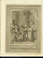 Viendo el Bto. Aparizio, que el Demonio queria haogar un Goben de mala vida, le avisa de supeligro.