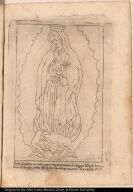 Esta Lamina es solo para representar el viage, ò hilo, de la costura de los dos paños del Ayáte Guadalupano, como hoy existe 1787.