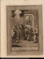 Durante esta duda de su Profesion, manda el Beato Aparizio al sindico, que reparta alos Pobres una corta porcion de hacienda, que a un le restava