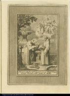 Discurre altam[en]te el Bto. Aparizio con un Relig[ios]o. Franciscano Descalzo, sobre puntos de Mistica