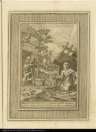 Buelve alas limosnas, y Carretas el Bto. Aparizio, y por sus ruegos socorre el Cielo con Pan, a uno devotos suios