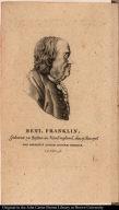 Beni. Franklin. Geboren zu Boston in Neu England, den 17. Jan. 1706. Non Sordidus Auctor Naturae Verique.