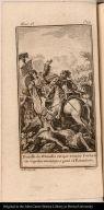 Batalla de Otumba en que venció Cortes todo el poder mexicano, y ganó el Estandarte.