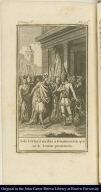 Sale Cortes á recibir á Guatimozin que se le traian prisionero.